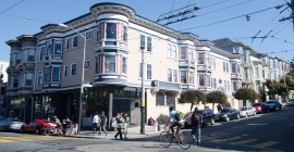 the corner of Haight & Ashbury